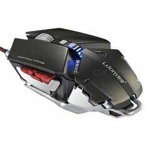 LUOM G50 4000dpi LED Optical USB Wired Mechanical Gaming ...
