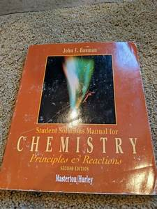 Student Solutions Manual For Chemistry Principles And