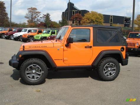 jeep rubicon orange crush orange 2013 jeep wrangler rubicon 4x4 exterior photo