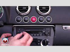 Audi TT Radio Removal 20022006 YouTube