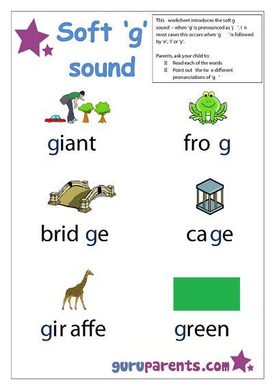 special letter worksheets guruparents 469 | preschool letter worksheet soft g sound