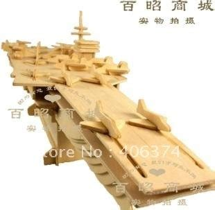 diy wooden aircraft carrier toywooden puzzle model