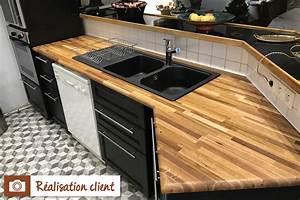 Protege Plan De Travail : plan de travail ch ne massif nature la boutique du bois ~ Premium-room.com Idées de Décoration
