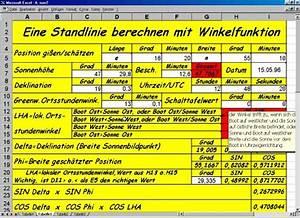 Sonnenhöhe Berechnen : berechneneiner standlinie mit winkelfunktionen ~ Themetempest.com Abrechnung