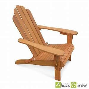 Fauteuil Bois Exterieur : fauteuil de jardin en bois adirondack salamanca eucalyptus fsc chaise de terrasse retro si ge ~ Melissatoandfro.com Idées de Décoration