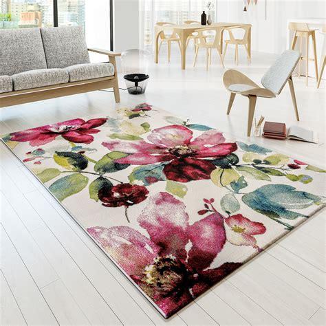 Teppich Modern Designer Teppich Bunt Blumen Muster Design