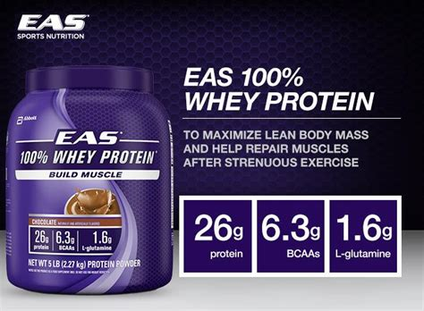 Amazon.com: EAS 100% Whey Protein, Chocolate, 5 Pounds