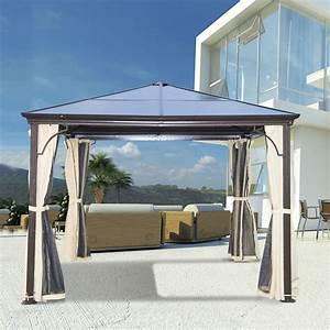 Pavillon Mit Festem Dach : outsunny luxus pavillon gartenpavillon alu partyzelt ~ Michelbontemps.com Haus und Dekorationen