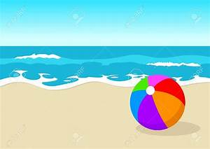 Beach scene illustration clipart