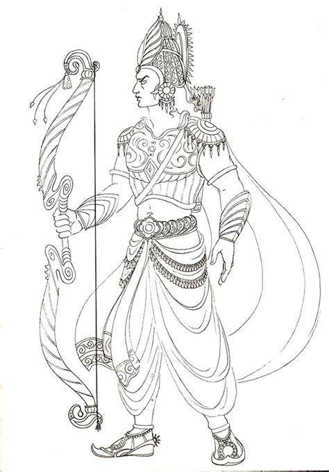 mahabharata characters drawings  colouring book