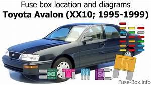 Fuse Box Location And Diagrams  Toyota Avalon  Xx10  1995