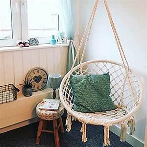 Fauteuil Suspendu Enfant : fauteuil suspendu essort hamac chaise suspendre corde en coton macram hamac chaise hamac ~ Melissatoandfro.com Idées de Décoration