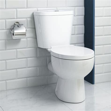 modern white ceramic toilet coupled bathroom pan cistern wc seat ebay