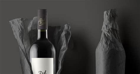 wine bottle psd paper wrap psd mock  templates pixeden