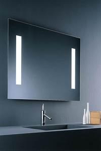 miroir lumineux pour salle de bain maison design bahbecom With carrelage adhesif salle de bain avec interrupteur infrarouge pour led