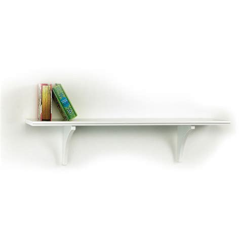 shelf brackets walmart inplace shelving mission shelf with bracket white