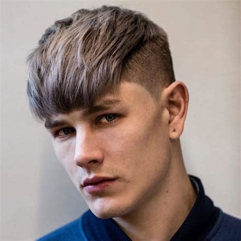 mens fringe hairstyles bangs  men  guide