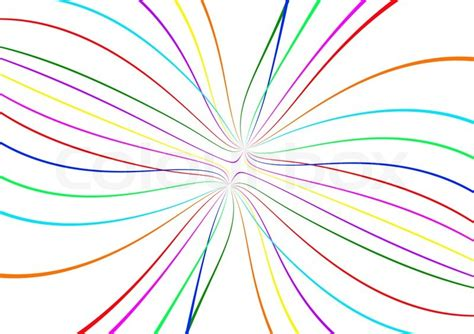 stock image of abstract color lines on white background