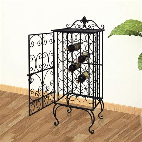 metal wine rack cabinet metal wine cabinet rack wine stand for 28 bottles vidaxl com