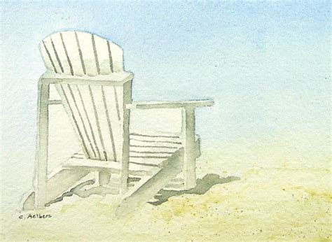 adirondack chair original watercolor 4 x 6