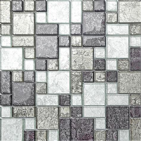 mosaic glass tile black silver hong kong foil glass mosaic tiles modular