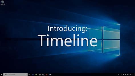 Windows 10 April 2018 Update  Timeline Youtube