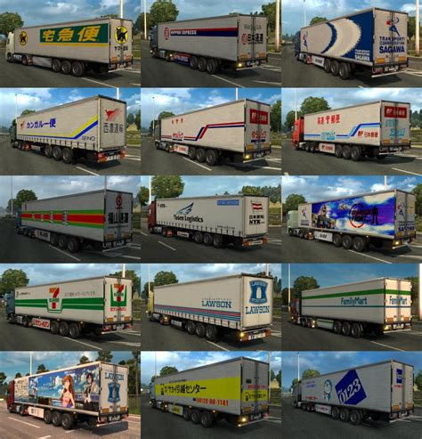 japan trailers traffic pack  ets mods euro truck