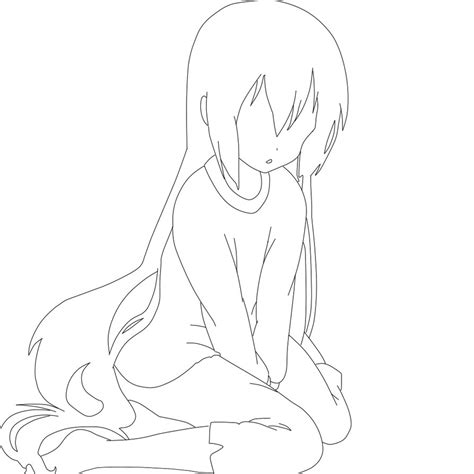 anime template wolf base coloring pages