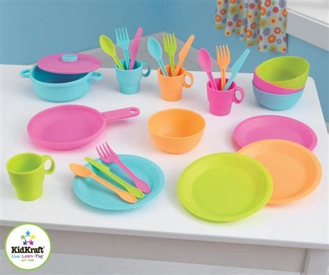Pretend Play Toy Plates, Cups, and Utensils   Toys For My