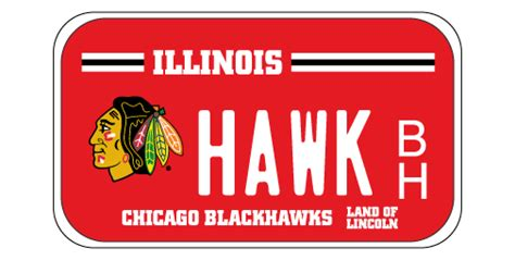 Chicago Blackhawks Motorcycle License Plates