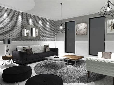 perfectly minimalistic black  white interiors