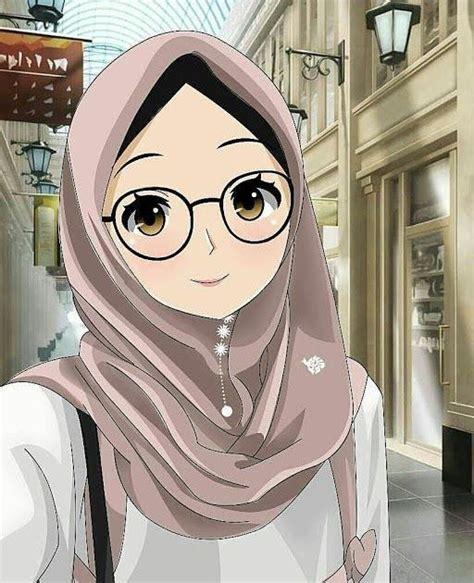 gambar kartun muslimah  foto profil whatsapp