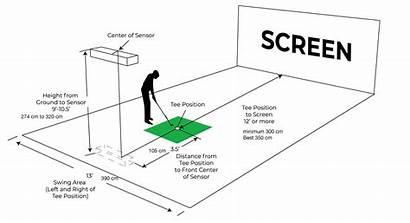 Setup Qed Golf Installation Simulator Space Guide