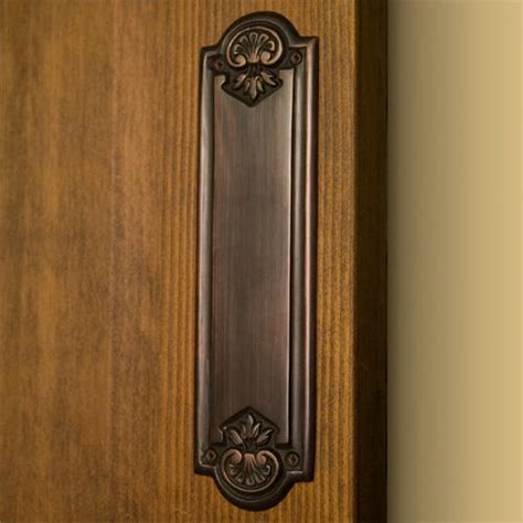 Colonial Brass Push Plate   Oil Rubbed Bronze   Hardware