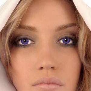 Natural Purple Eyes | Green colored contacts, Brown ...