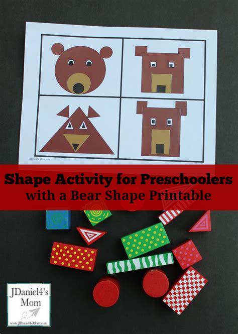 shape activity for preschoolers with a shape printable 489 | Shape Activity for Preschoolers with a Bear Shape Printable Pinterest Picture