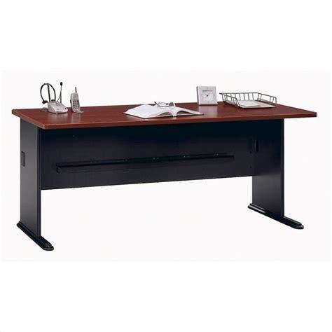 bush series a desk bush bbf series a 72w desk in hansen cherry wc94472
