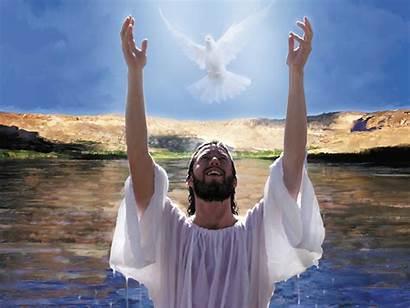 Heaven Jesus Baptism Matthew Baptized John Opened