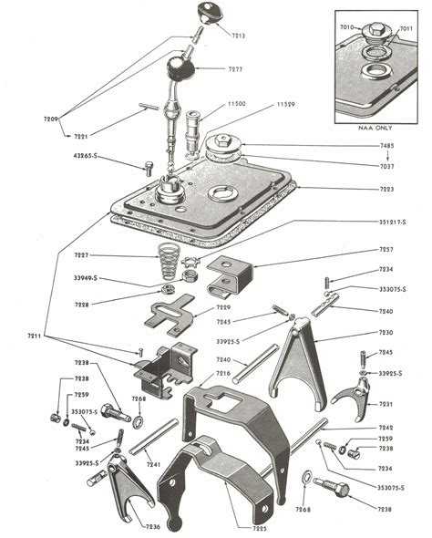 Golden Jubilee Tractor Wiring Diagram by Gearshift Parts For Ford Jubilee Naa Tractors 1953 1954