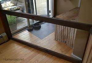 Diy dog fence homeroad for Dog fence for inside house