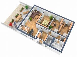 Wohnung Planen App : 3d grundriss ~ Lizthompson.info Haus und Dekorationen