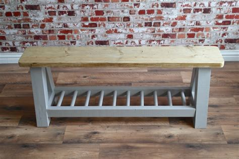 Ergonomic Living Room Furniture by Rustic Farmhouse Storage Bench Made From Reclaimed Wood