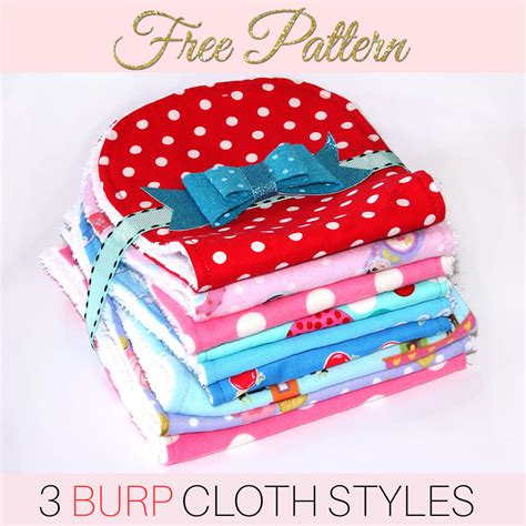shabby fabrics burp cloth pattern burp cloth pattern free printable pattern for 3 styles treasurie