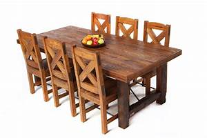 reclaimed oak wood dining tables and chairs hand made With dining chairs for reclaimed wood table