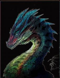 Armored Dragon by Decadia metallic blue monster beast ...