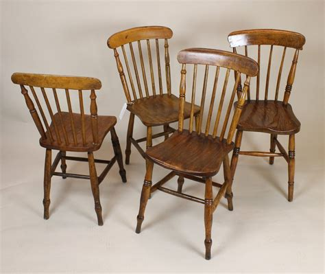 set of ash elm kitchen dining chairs