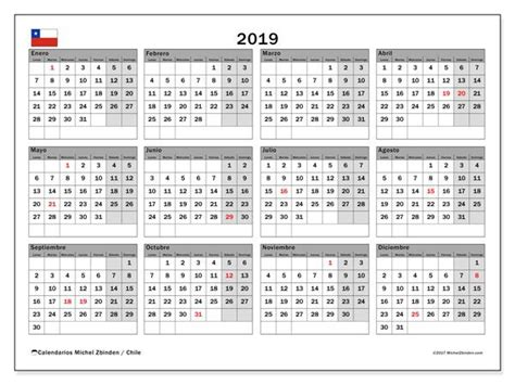 calendario  chile calendario  imprimir gratis