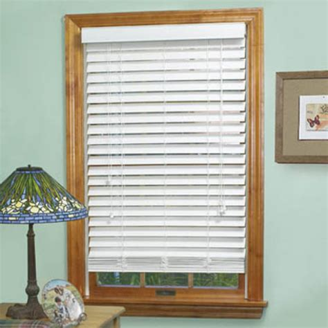 2 faux wood blinds achim madera falsa 2 in faux wood plantation blind ebay