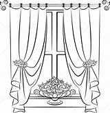 Curtain Curtains Drawing Stage Arch Illustration Vector Window Clip Theater Getdrawings Bay Drawings Theatre Sheer Pugovica88 Depositphotos Interior Gograph Paintingvalley sketch template