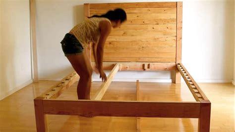 diy bed frame  wood headboard page     piece